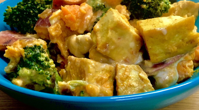 Tofu Cashew Sweet Potato Curry