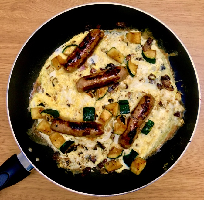 Sausage and Courgette Omelette