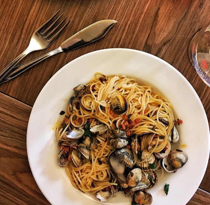 Clam Chorizo Linguine