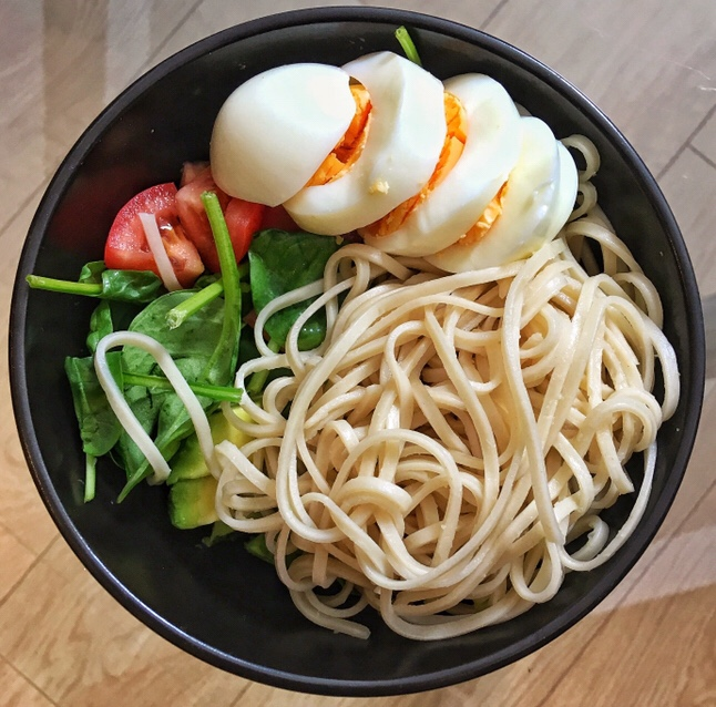 Quick and Easy Egg Noodle Salad