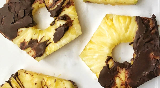 Frozen Pineapple Chocolate Rings