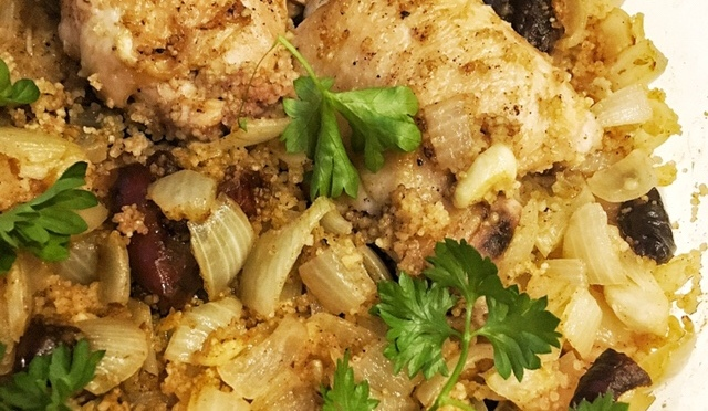 Moroccan Chicken and Date Couscous
